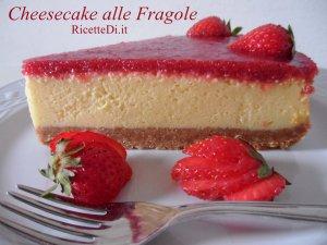 foto ricetta della cheesecake alle fragole