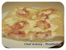 pizza pancetta stracchino e parmigiano