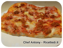 pizza prosciutto cotto e salsiccia