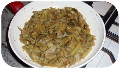 carciofi cotti in padella