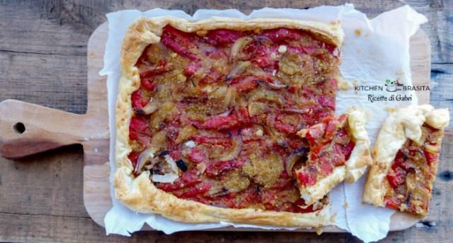 torta rustica peperoni cipolla