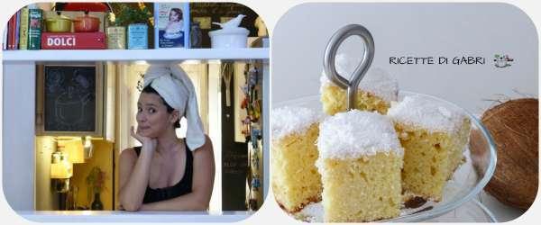 torta asciugamano torta cocco veloce ricetta