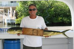 Mike, with his catch of the day