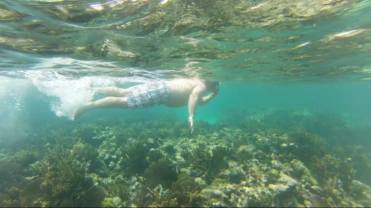 Brent enjoying the reef