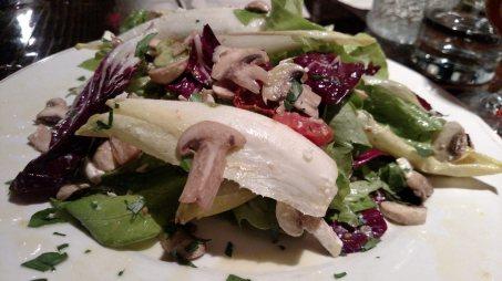 'shroom salad at Pizzeria Antico