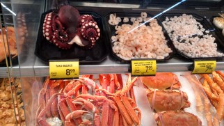 Awesome seafood selection at the supermarket