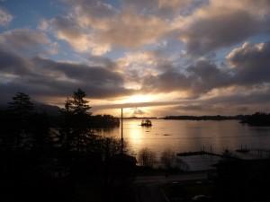 Jamestown Bay from my window,.