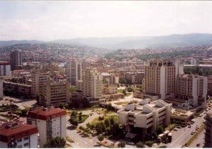 Prishtina from the Roof of the Rjlindia Building.