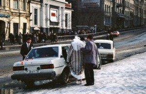 Russian Fur Coat on a Bride.