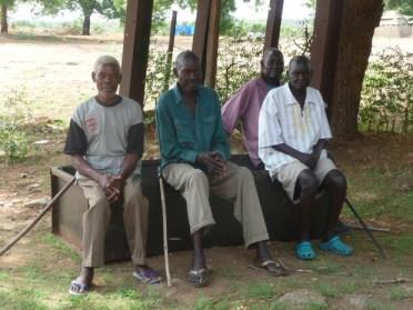Old Men at church at Rejaf