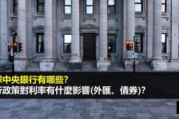 全球中央銀行有哪些?央行政策對利率有什麼影響(外匯、債券)?(附央行決議時間表)
