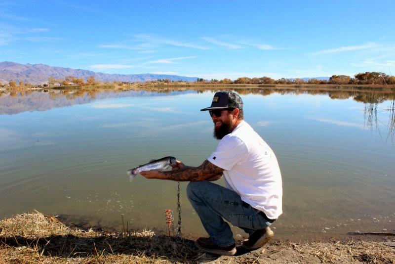 Fishing by the Lake Diaz