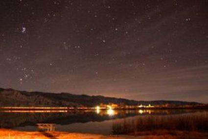 Lake Diaz at night
