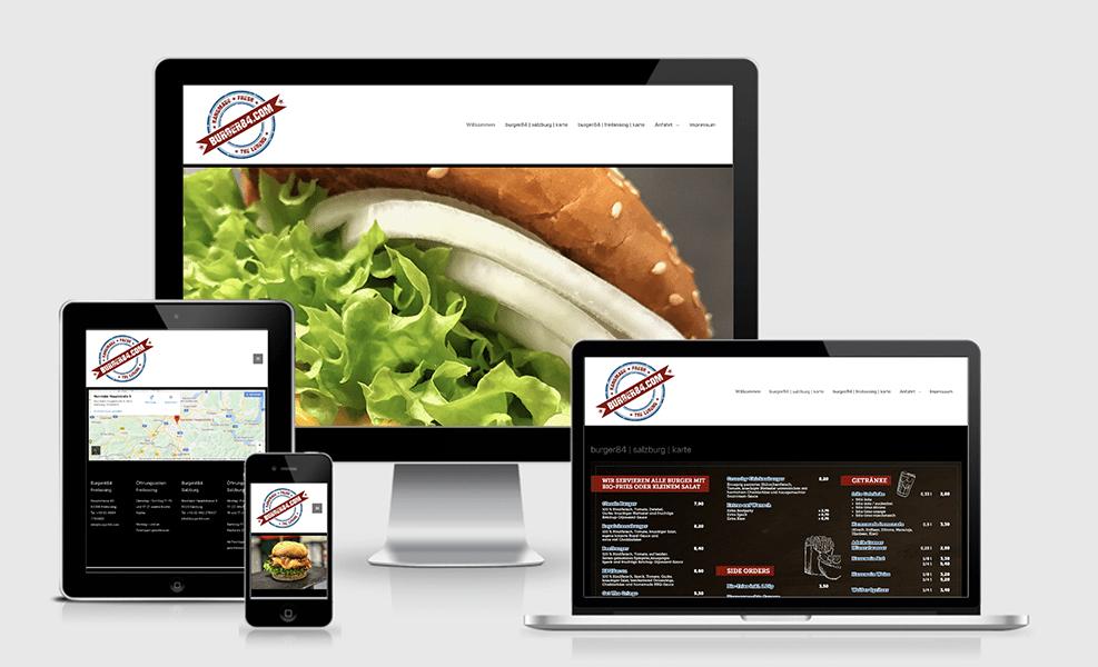 Burger 84 | WordPress-Seite