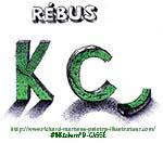 """Dessin d'un rébus, réalisé au stylo-bille noir & au vert, sur papier blanc, par Richard Martens, pour #INKtober2016 nº 9 : """"Cassé"""". #thefrenchINKtober #thefrenchINKtober2016 #INKtober #INKtober2016 @jakeparker #RichardMartens"""