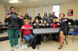 Sheila-Johnstone-right-and-her-American-Sign-Language-students