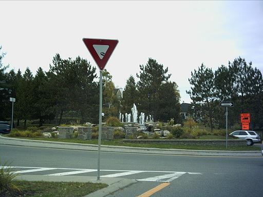 La fontaine du carrefour giratoire