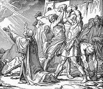 Stephen's martyrdom - Saul of Tarsus attending