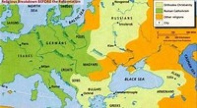 Map concerning the first European converts