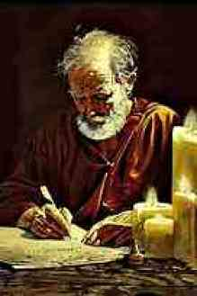 The apostle Paul writing - no longer the chief of sinners