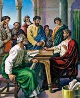 Paul verifies gospel with Peter, James and John
