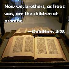 A picture of the verse quoting Paul's reference to the CHILDREN OF PROMISE.