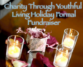 Charity Through Youthful Living Holiday Formal Fundraiser Saturday, January 19th 8 - 11pm Winters House 2102 Bellevue Way SE, Bellevue, Washington Celebration * Silent Auction Auction featuring a Nintendo Wii* console system
