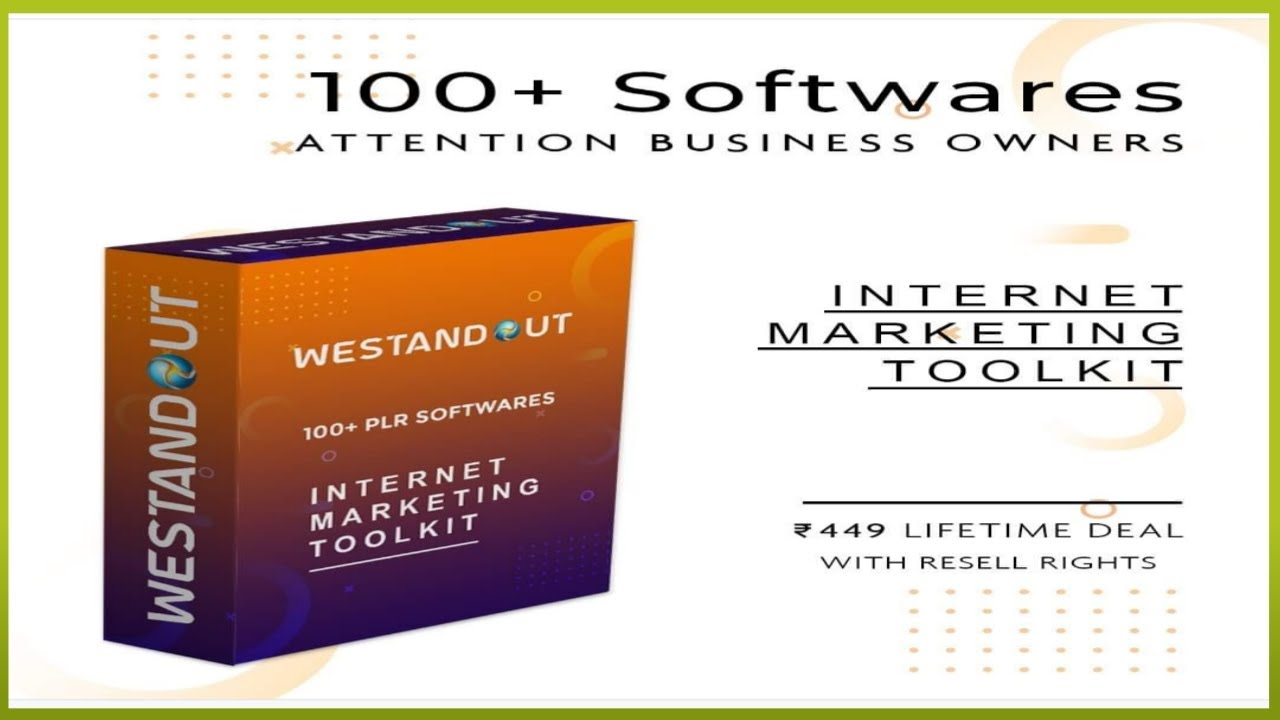 100 +popular software (internet marketing toolkit) @ only 499 – lifetime access and you can resell