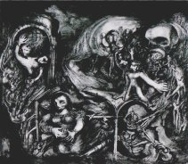 Liberation, watercolour, 1945