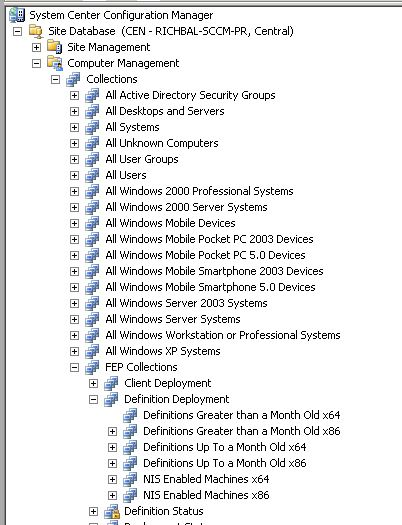 Using SCCM Distribution Points for Forefront Endpoint