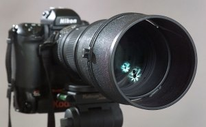 The AF-Nikkor 300mm f/2.8 ED-IF, on my Nikon/Kodak 720x, an excellent combination for night sports.