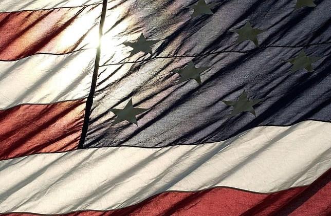 U. S. flag, Ada's Wintersmith Park, July 4, 2006.
