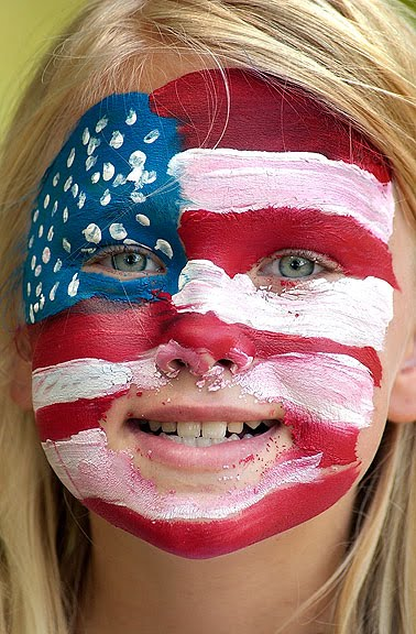 Face paint, Independence Day 2008.
