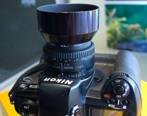 My 50mm f/1.8 AF-Nikkor on my Nikon D1H