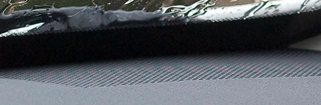 Red/cyan aliasing pattern in an image of my dashboard