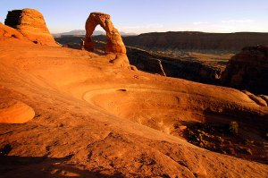 Sunset at Delicate Arch, Arches National Park, Utah, October 2005; I got married at Delicate Arch, and my wife and I return to photograph it often. In spite of this, there are many, many great images of this icon of the southwest by many great photographers. One reason I am partial to this image is my closeness to the subject. Still, it didn't quite make the top five.