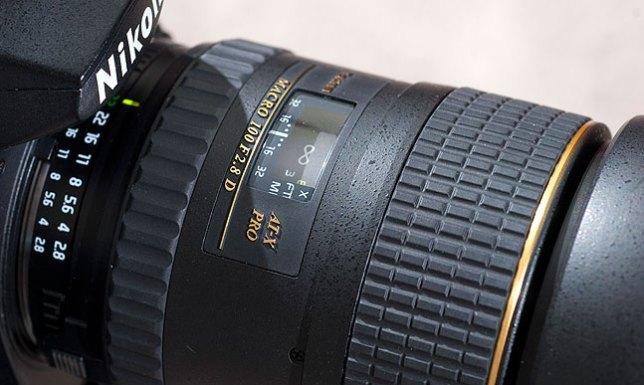 This is the Tokina 100mm f/2.8 Macro on one of my Nikon D200s. Moments earlier I used it to shoot the image of the spider in this post.