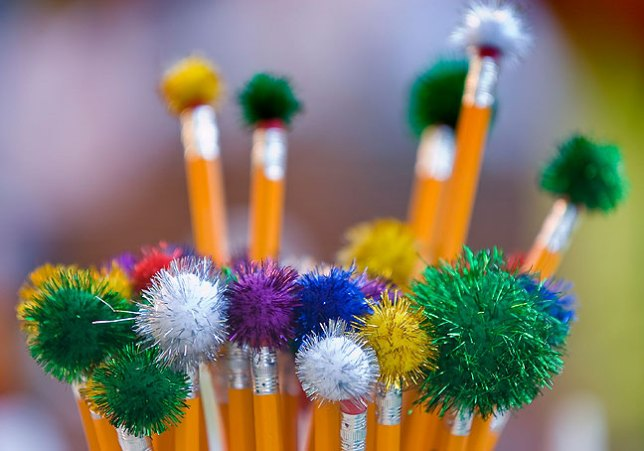 Pencils on display, National Night Out Tuesday, August 3, 2010, at East Central University; made with the AF-S Nikkor 80-200mm f/2.8 at f/2.8.