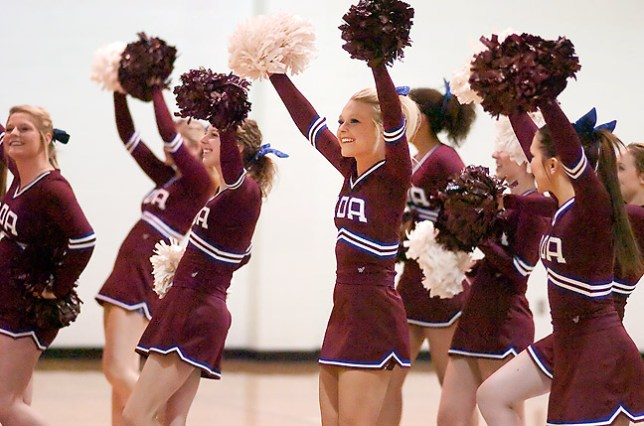 Go Cougars! I made this cheerleader feature from the baseline with my 180mm.