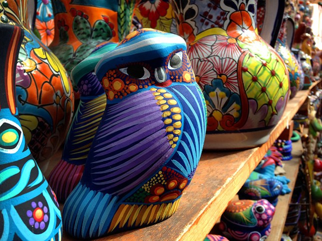 This image of small statues for sale at Santa Fe, New Mexico's Historic Plaza is pretty much as the iPhone rendered it originally, with excellent color and sharpness.