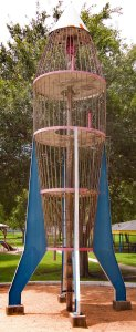 This is the rocket ship playground piece in Ada's Glenwood Park.