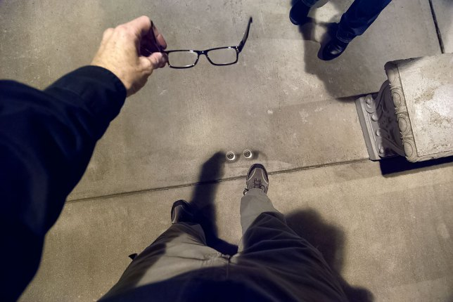 We discovered that my reading glasses made a very interesting shadow.