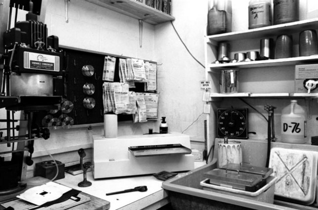 I worked with four Ektamatic print processors over the years, like this one, in the lower center part of the frame in the darkroom in Shawnee, Oklahoma in the late 1980s.