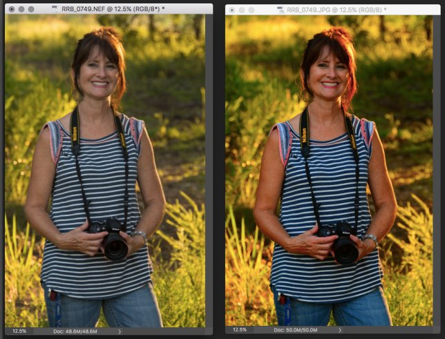 On the left is the unedited RAW file. On the right is the JPEG. Initially, it's easy to get carried away with JPEG settings that make an image stand out. But there's a lot more to shooting RAW than first impressions.