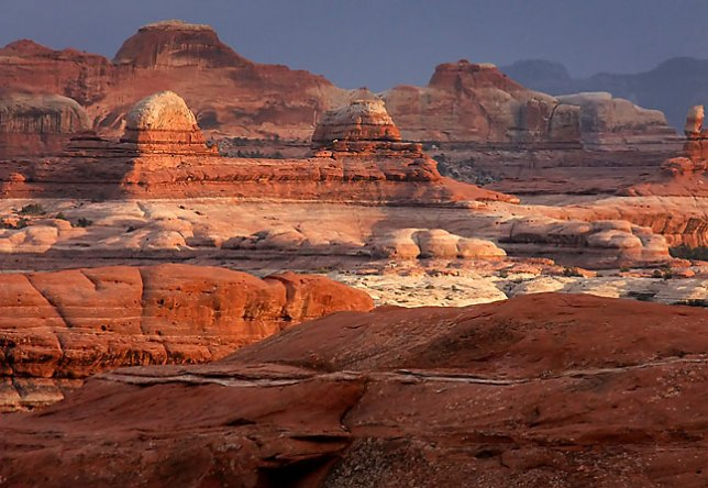 I made this image on a windy, cold evening near the Squaw Flat Campground at Canyonlands National Park in April 2011.