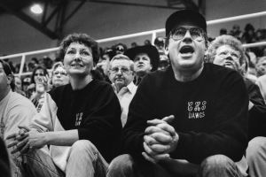Calvin basketball fans clamor for their kids at the state tournament in Oklahoma City in 1994. Kodak P3200 was a problem-solver then, but a solution looking for a problem today.
