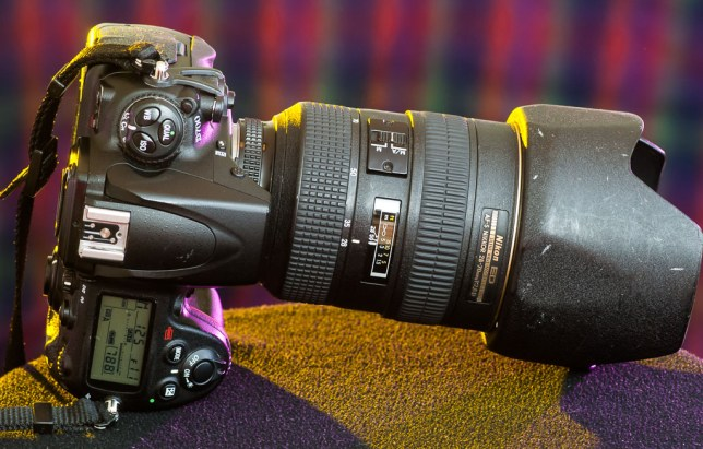 The hefty Nikon D700 wears the even heftier AF-S Nikkor 28-70mm f/2.8. The combination creates dazzling images, and is a great choice for events like weddings.