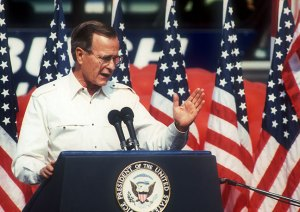 Then Vice President George Bush, 1988