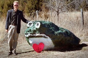 Posing at Frog Rock on Valentine's Day some years ago