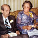 Russell and Alleen Barron on their 50th wedding anniversary, 1980.